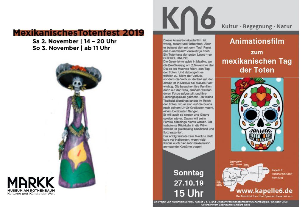 Sa/So, 2./3. Nov 2020: Mexikanisches Totenfest